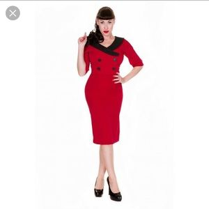 NWT LINDY BOP SIZE SMALL RED & BLACK DRESS